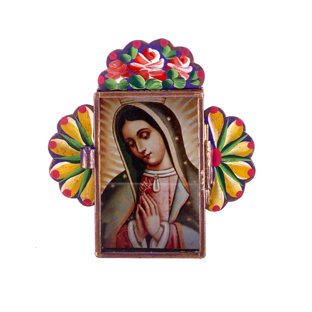 Mexican Handcrafts // Purple Mary Wall Hanging / Ornament