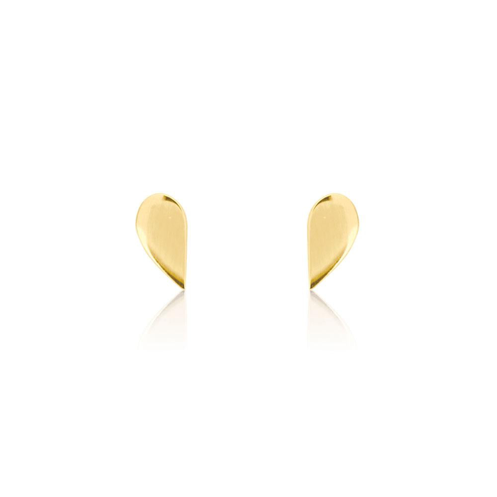 Linda Tahija // Half Stud Earrings - Yellow Gold Plated Sterling Silver