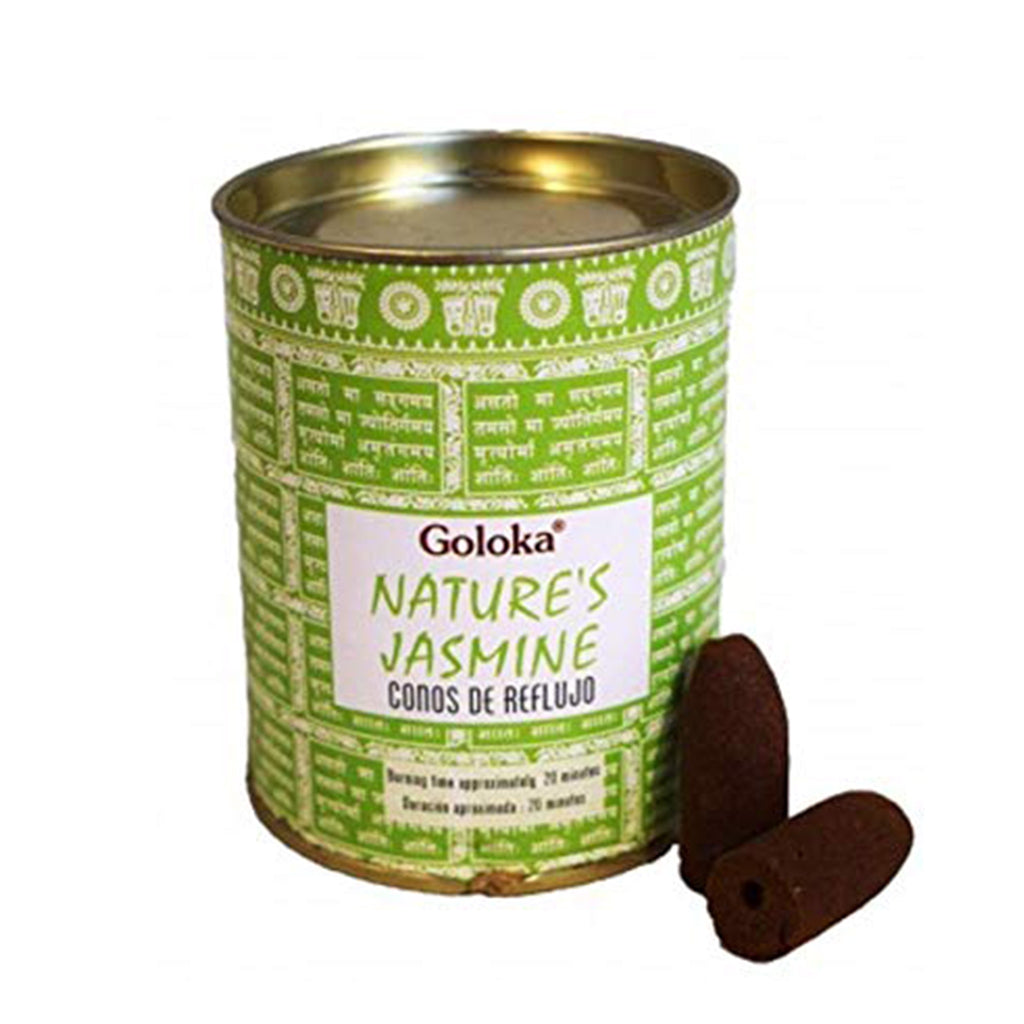 Goloka // Nature's Jasmine Backflow Incense Cones
