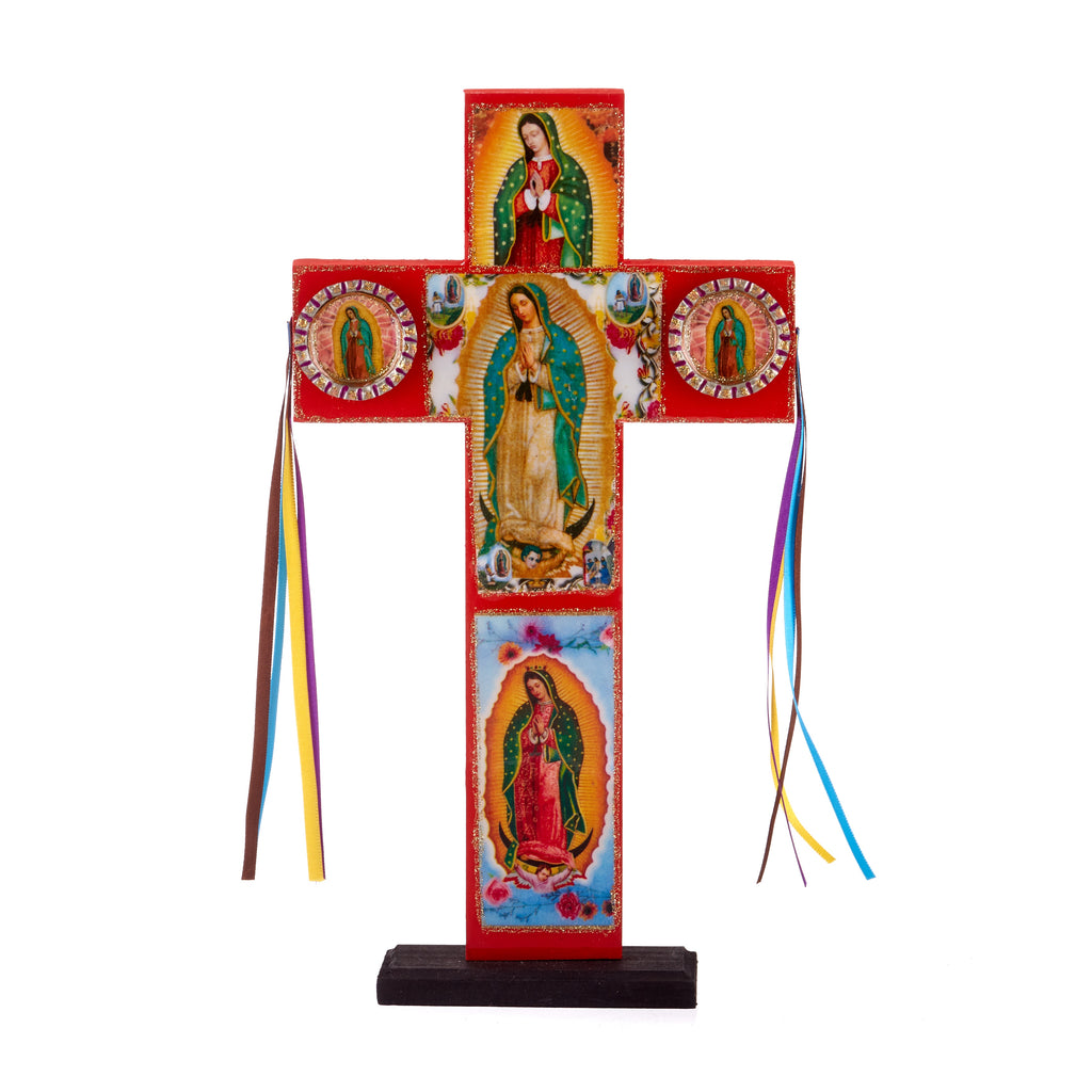 Mexican Handcrafts // Guadalupe Free Standing Cross