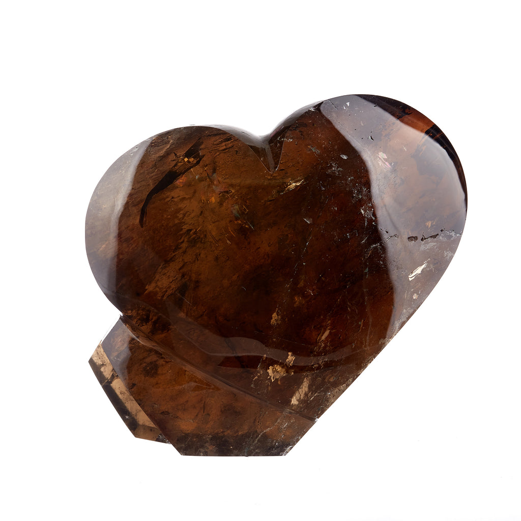 Smokey Quartz Heart Sculpture #1