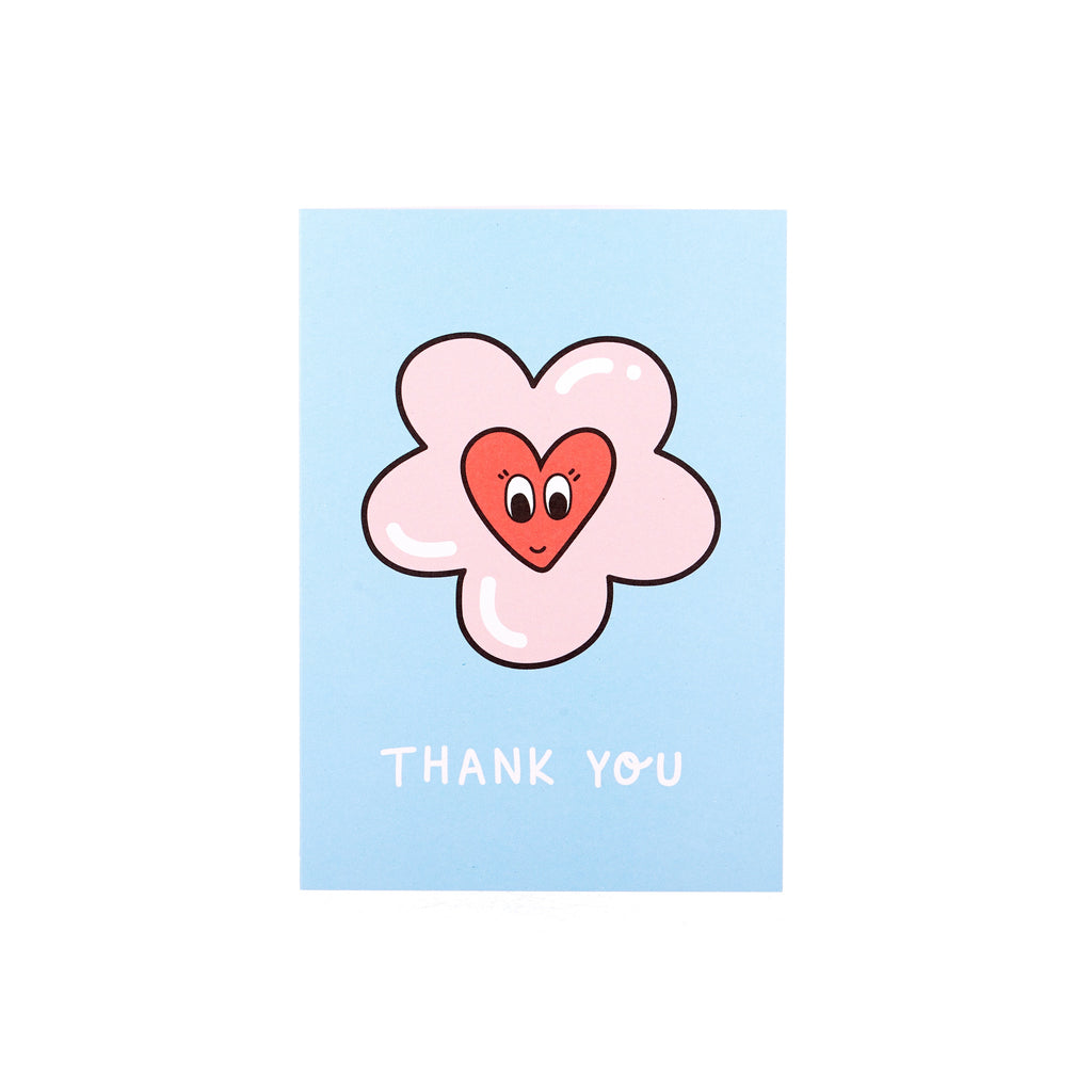AHD // Poppy Almond Thank You Greeting Card