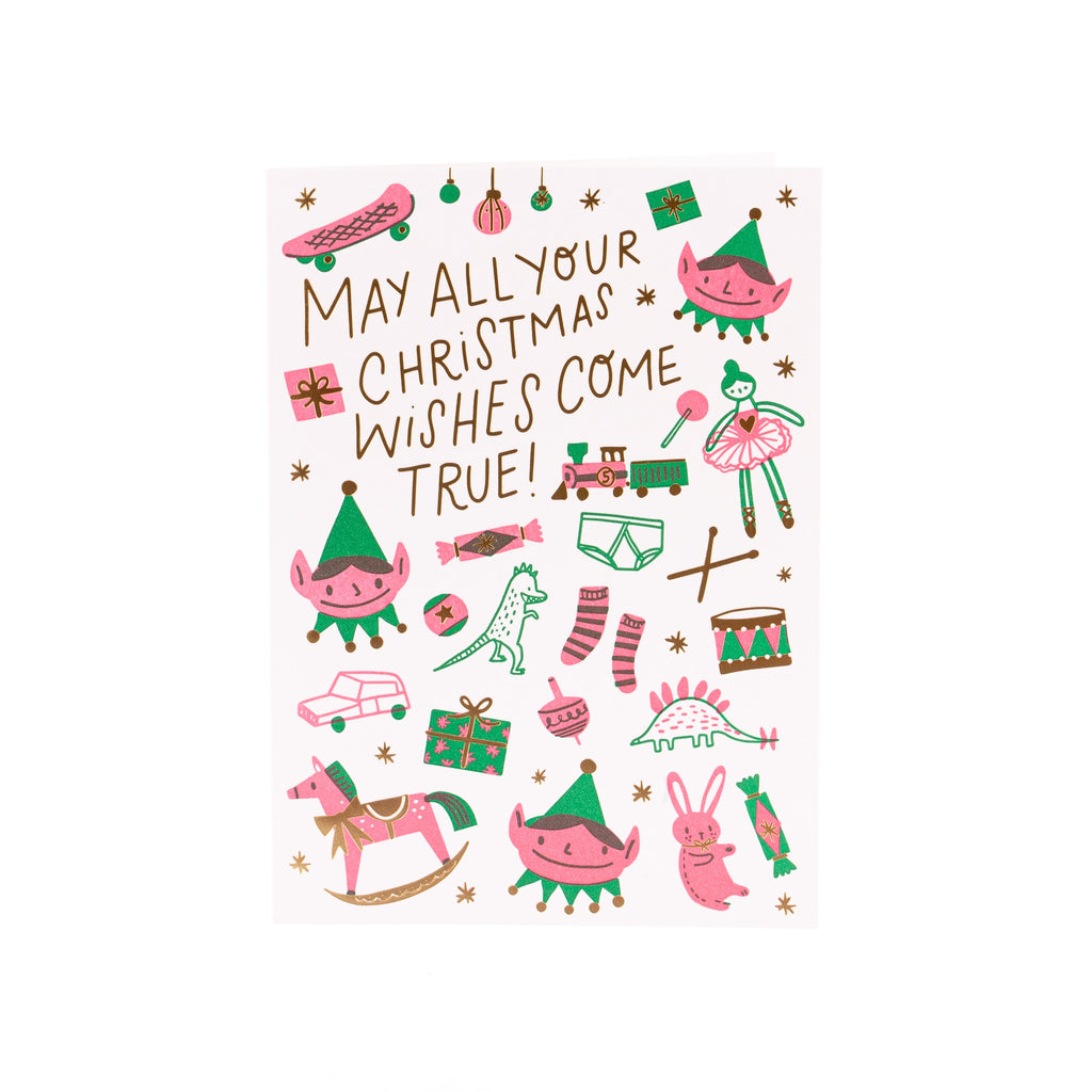 Hello Lucky // Christmas Wishes Card
