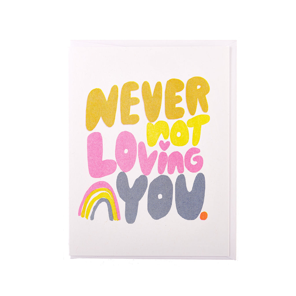 Yellow Owl // Never Not Loving You Greeting Card