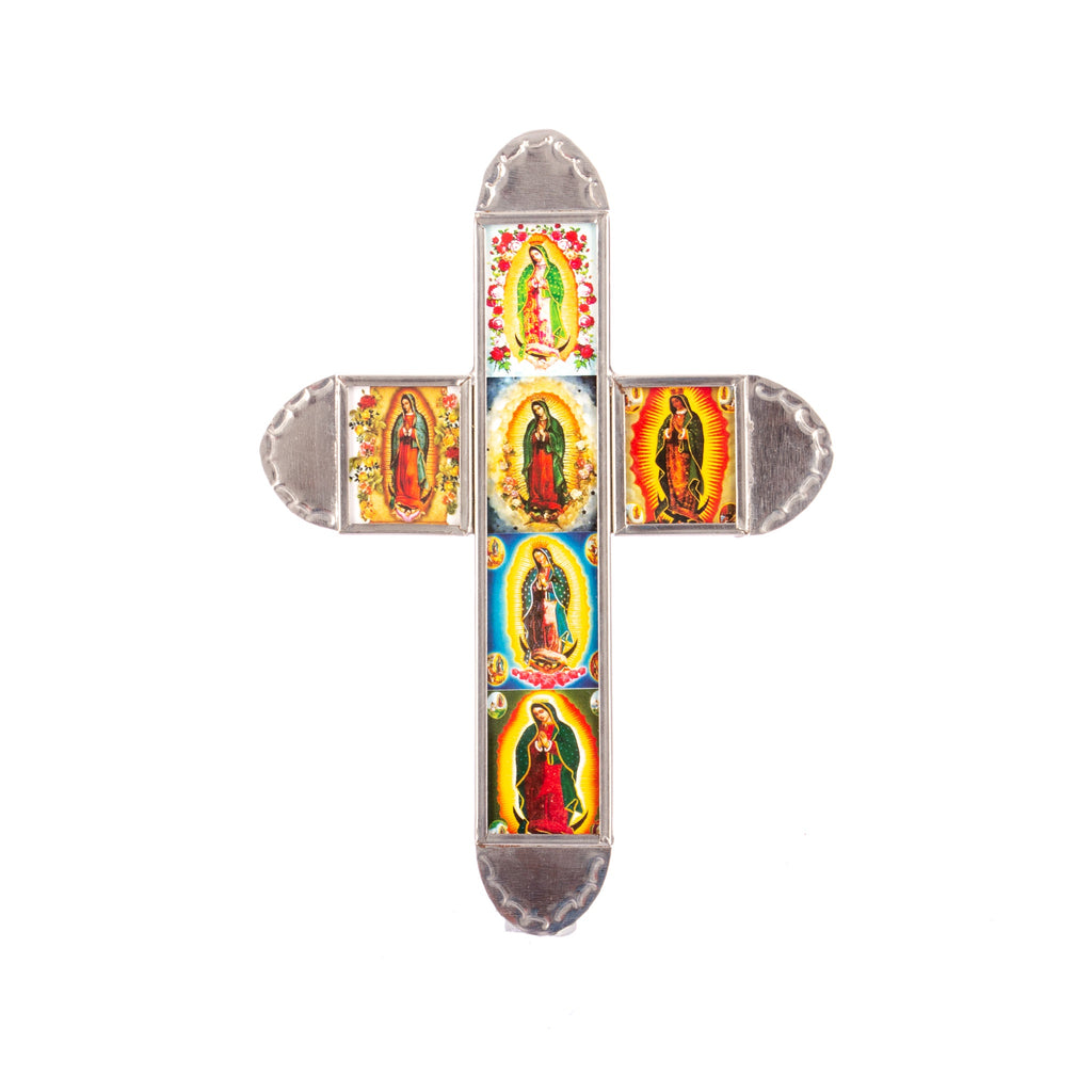 Mexican Handcrafts // Mini Tin Sacred Heart Cross II
