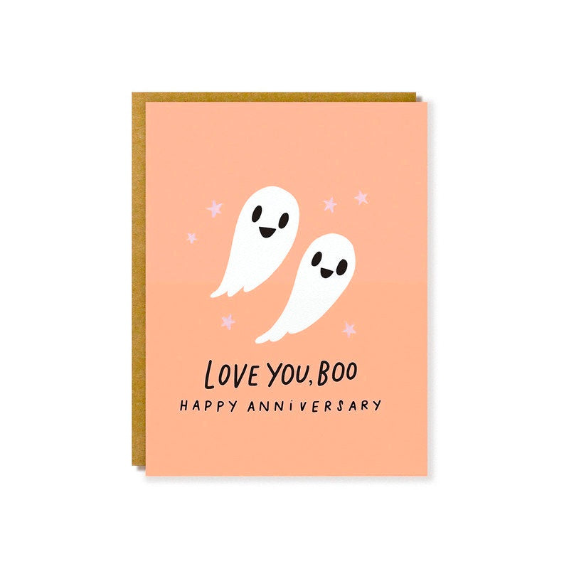 Hello Lucky // Love You Boo Greeting Card