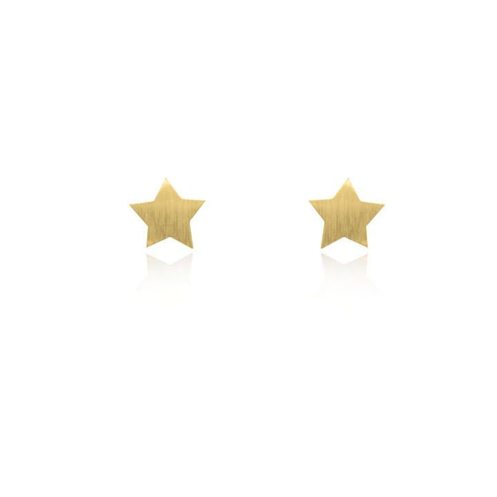 Linda Tahija // Star Stud Earrings - Yellow Gold Plated Sterling Silver