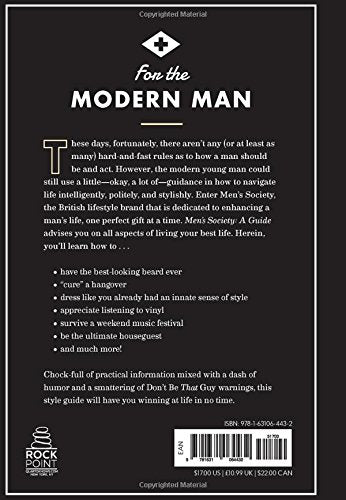 Men's Society Book