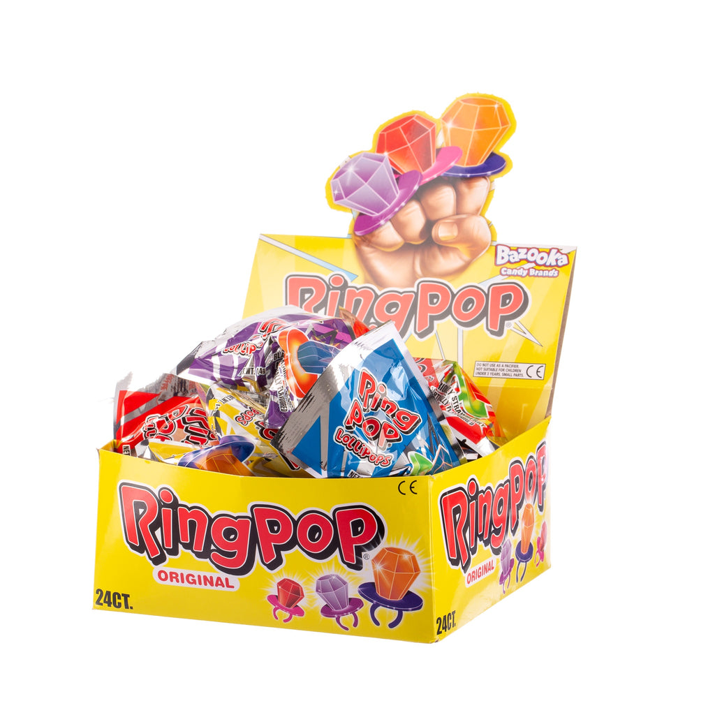 Twisted Ring Pop Lollipops