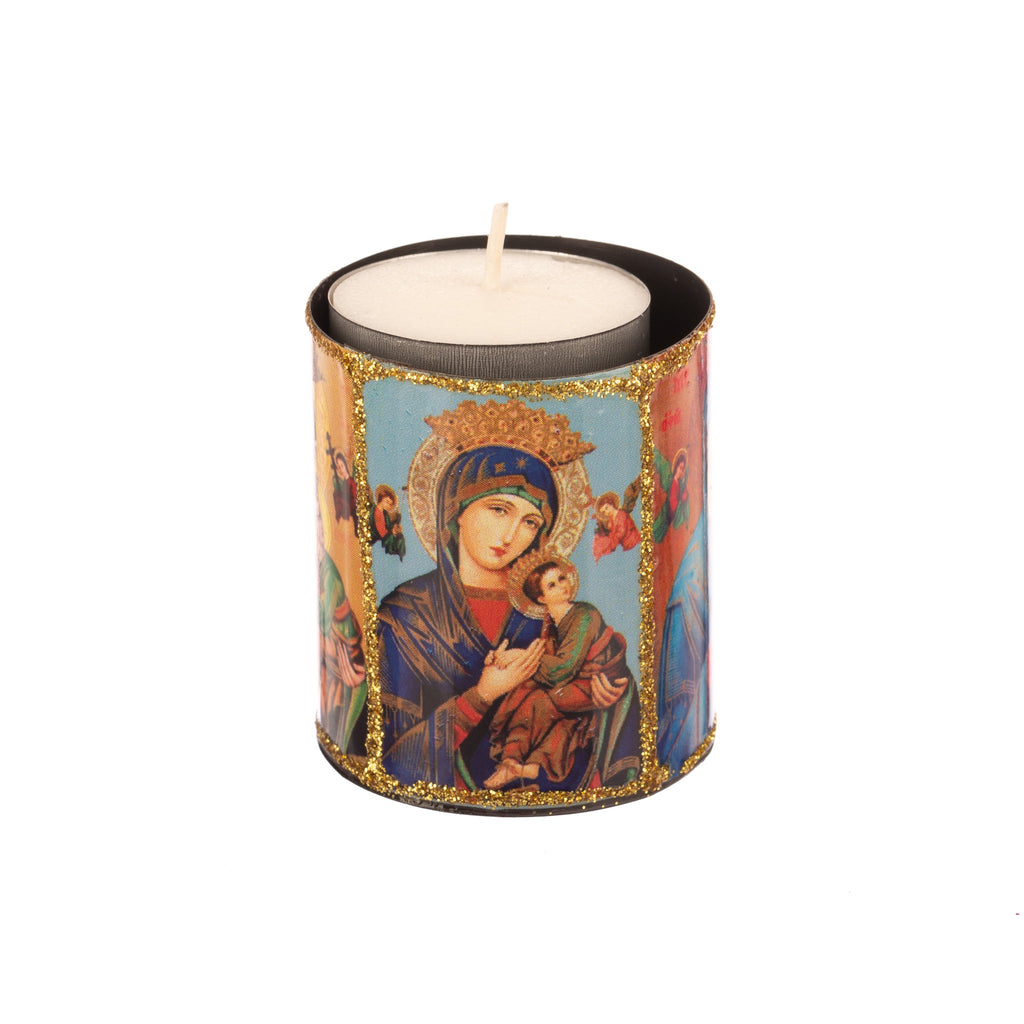 Mexican Handcrafts // Tealight Candle Holder - Saint Design