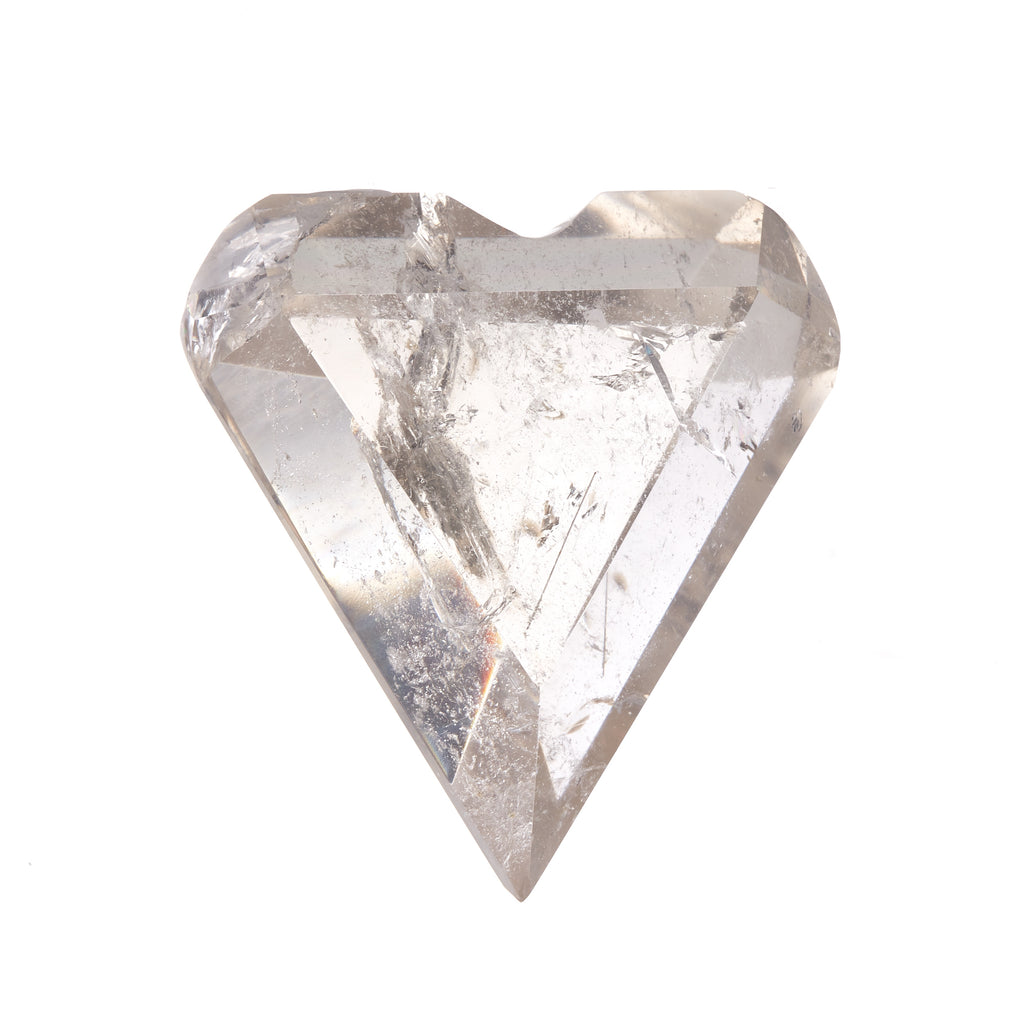 Clear Quartz Faceted Heart #5