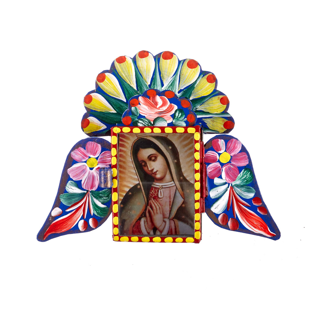 Mexican Handcrafts // Blue Mary Wings Wall Hanging / Ornament