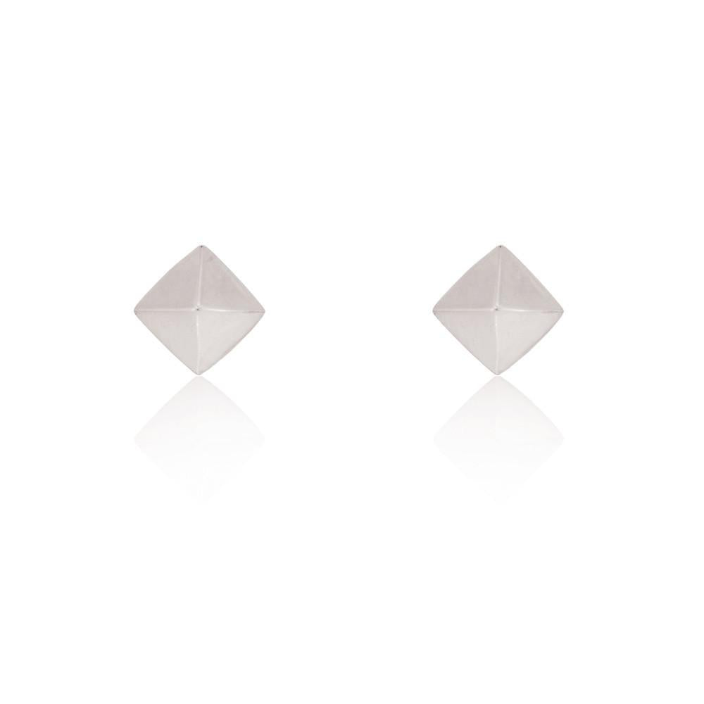 Linda Tahija // Pyramid Stud Earrings - Sterling Silver
