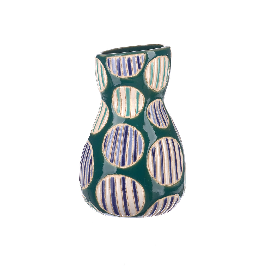 Jones & Co //  Saturday Vase - Blue Spot