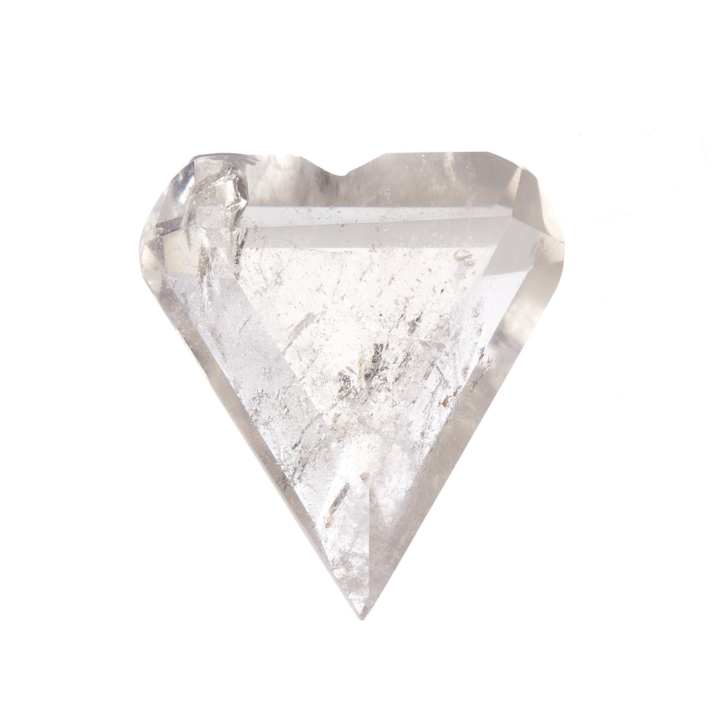 Clear Quartz Faceted Heart #3