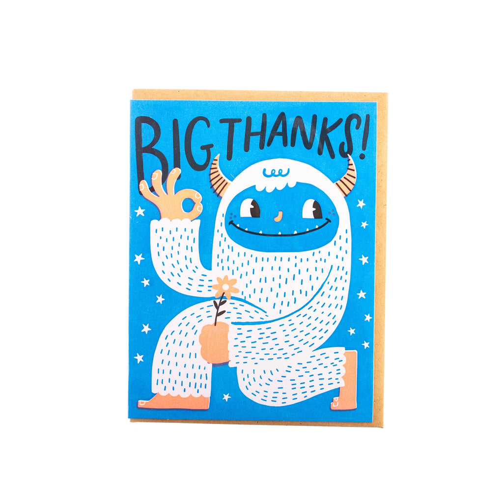 Hello Lucky // Yeti Thanks Greeting Card