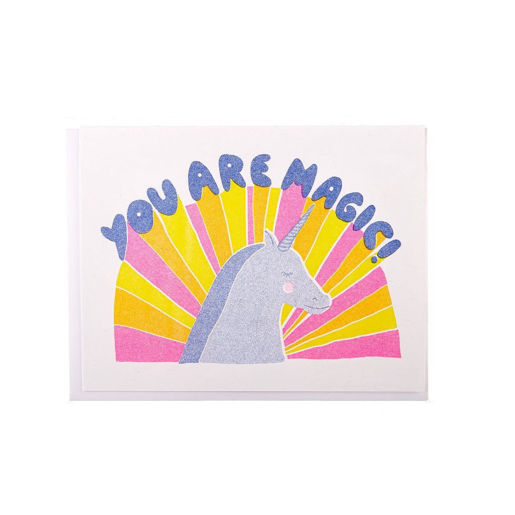 Yellow Owl // You Are Magic Greeting Card
