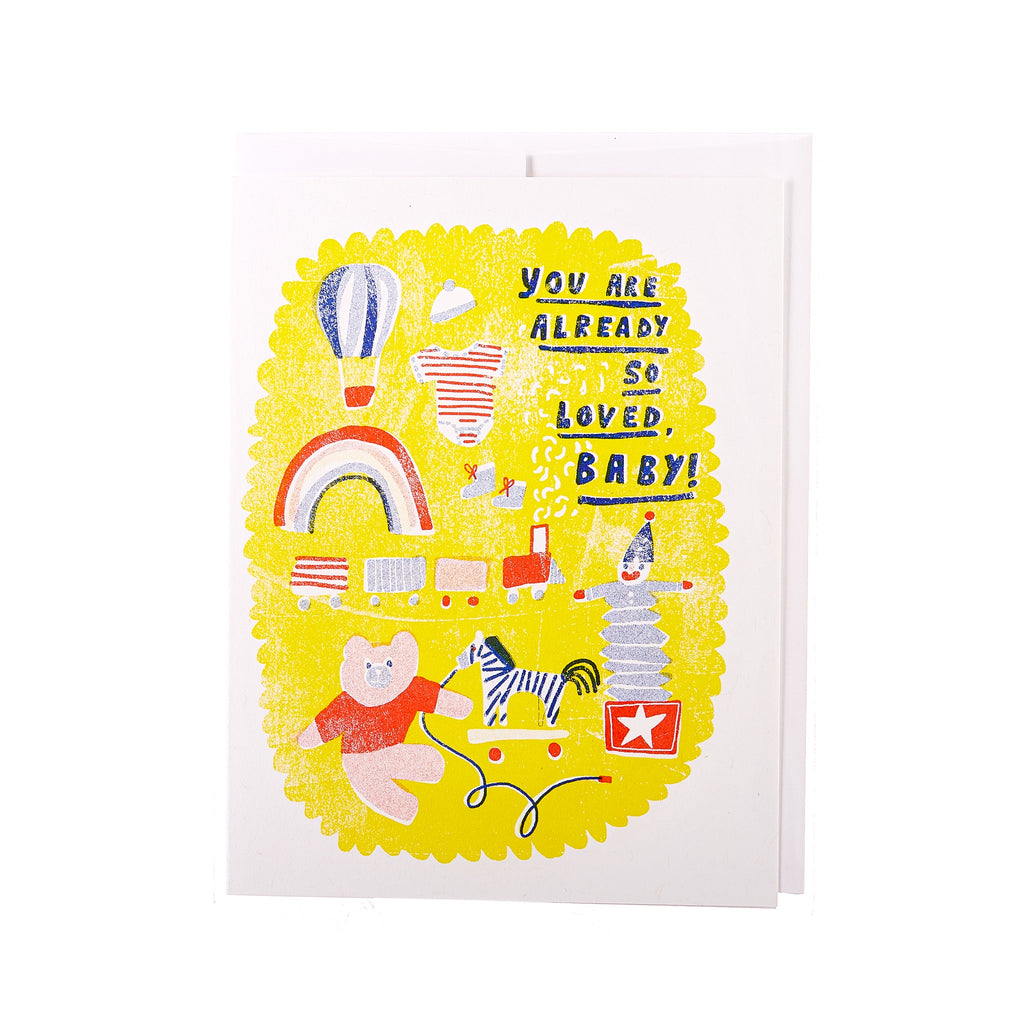 Yellow Owl // You Are Already So Loved, Baby! Greeting Card