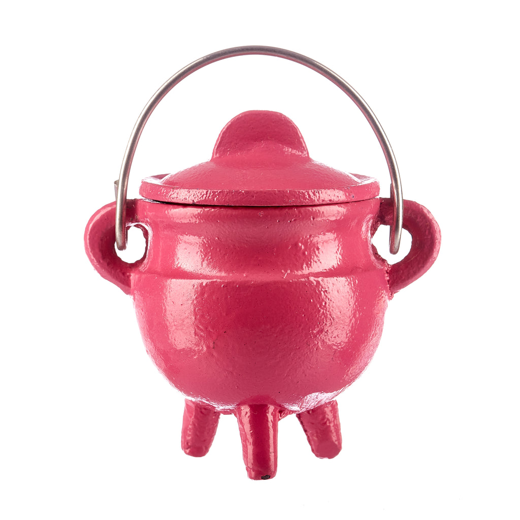 Pink Cast Iron Cauldron