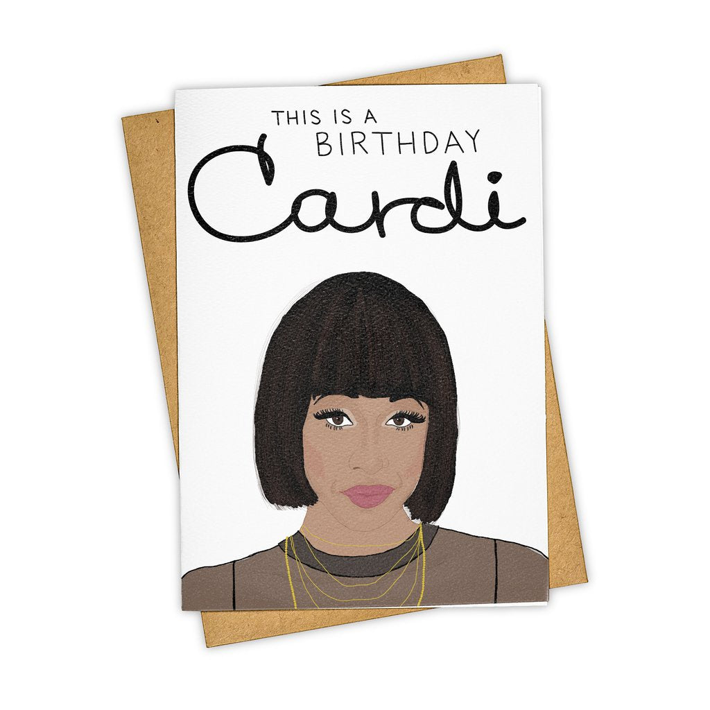 Tay Ham // This Is A Birthday Cardi Greeting Card