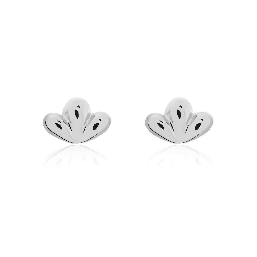 Linda Tahija //   Bloom Stud Earrings - Sterling Silver Bloom Stud Earrings