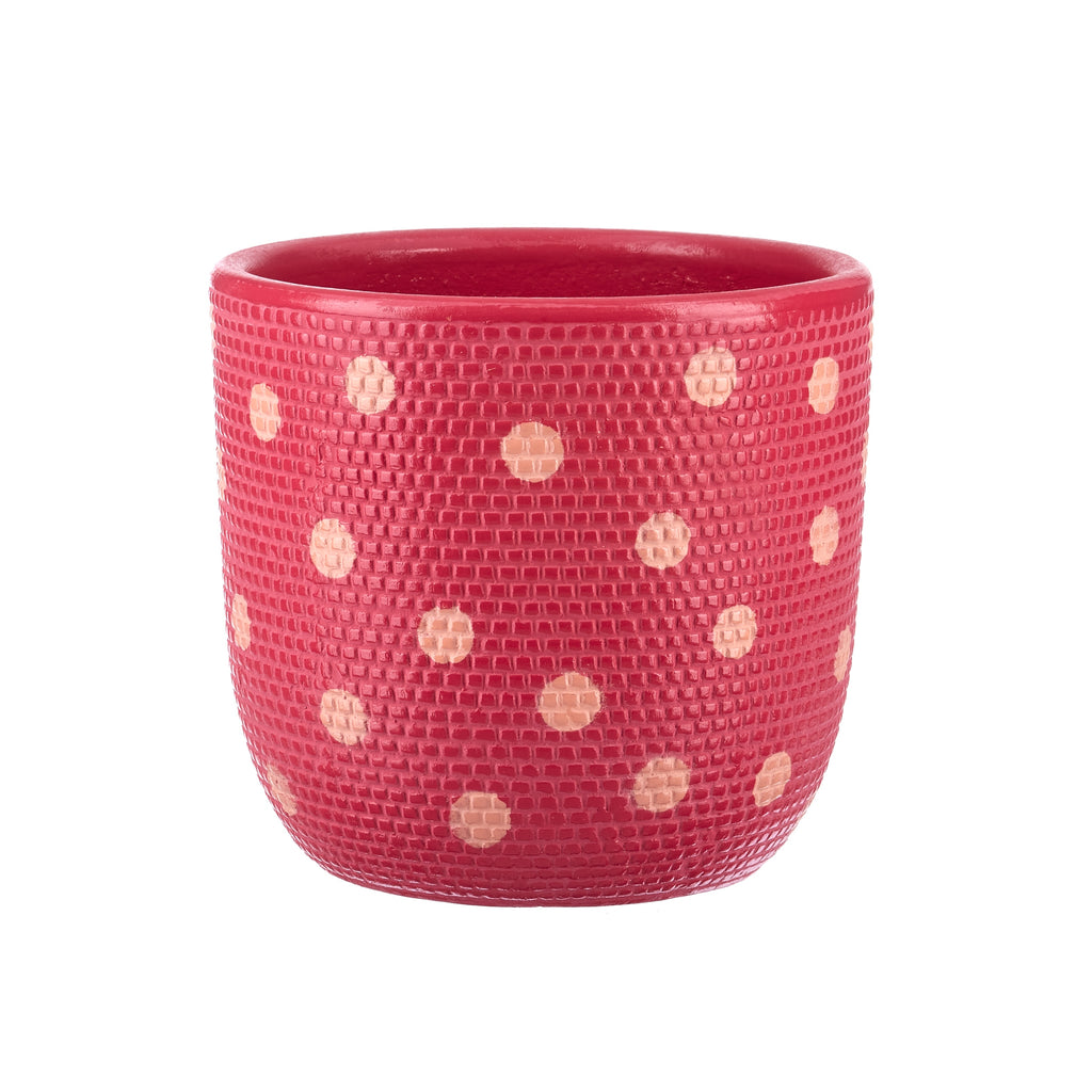Jones & Co //  Magenta & Nectarine Spot Pot
