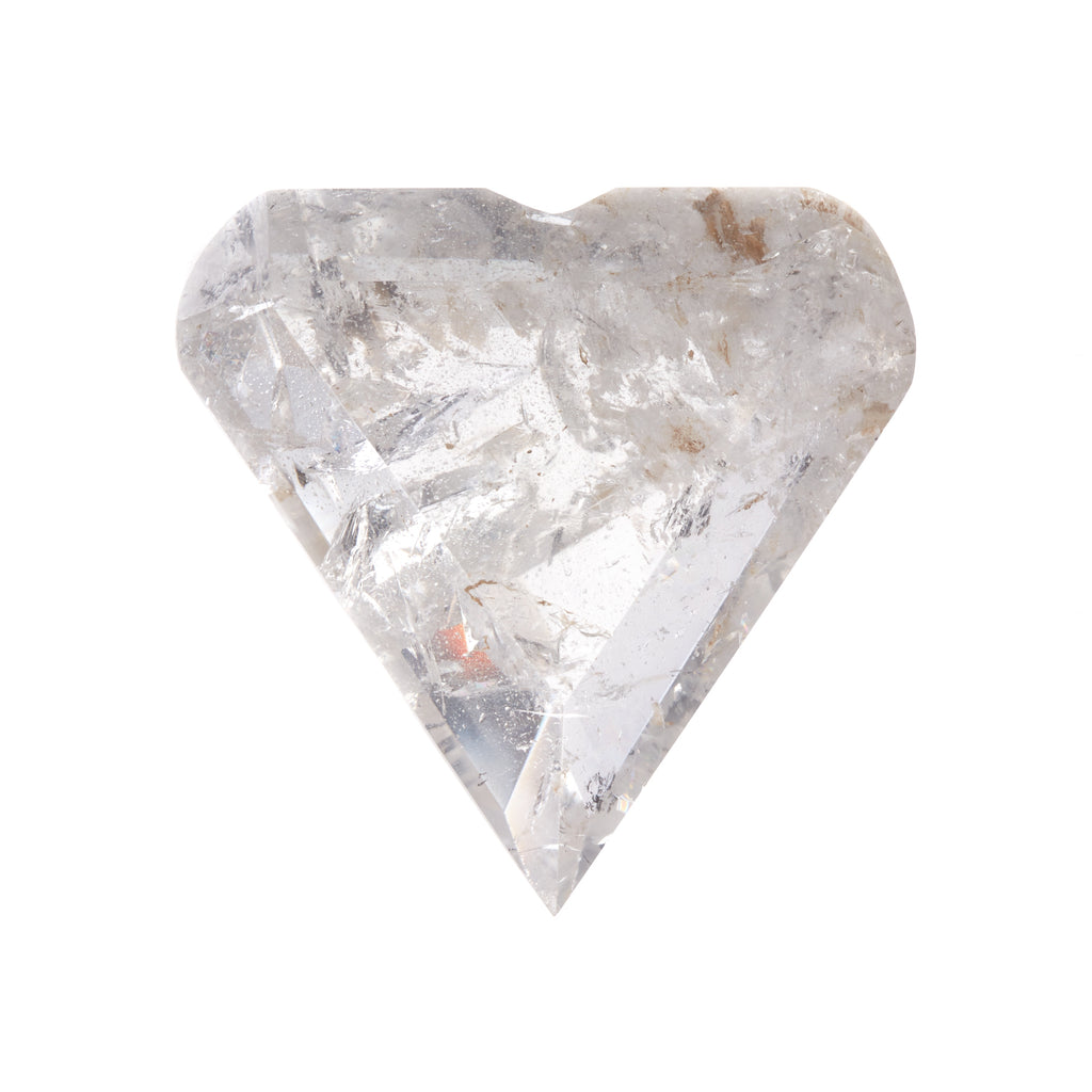 Clear Quartz Faceted Heart #6