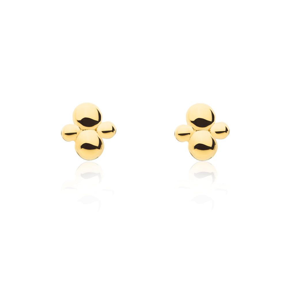 Linda Tahija // Cluster Stud Earrings - Yellow Gold Plated Sterling Silver