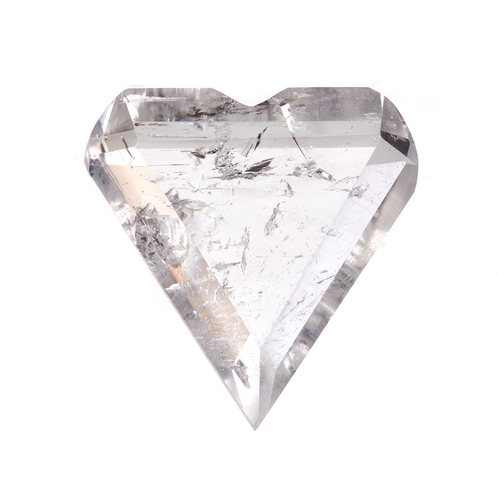 Clear Quartz Faceted Heart #1