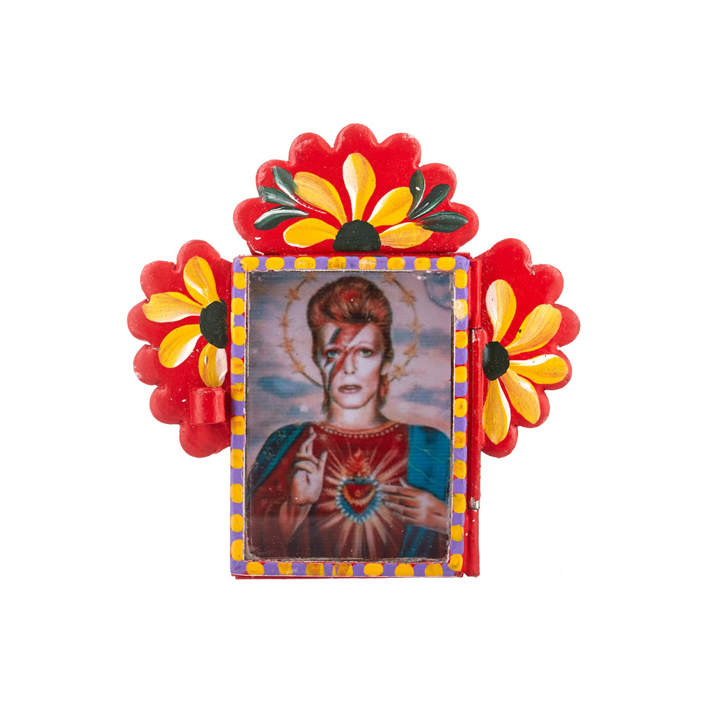 Mexican Handcrafts // David Bowie Red Wall Hanging Ornament