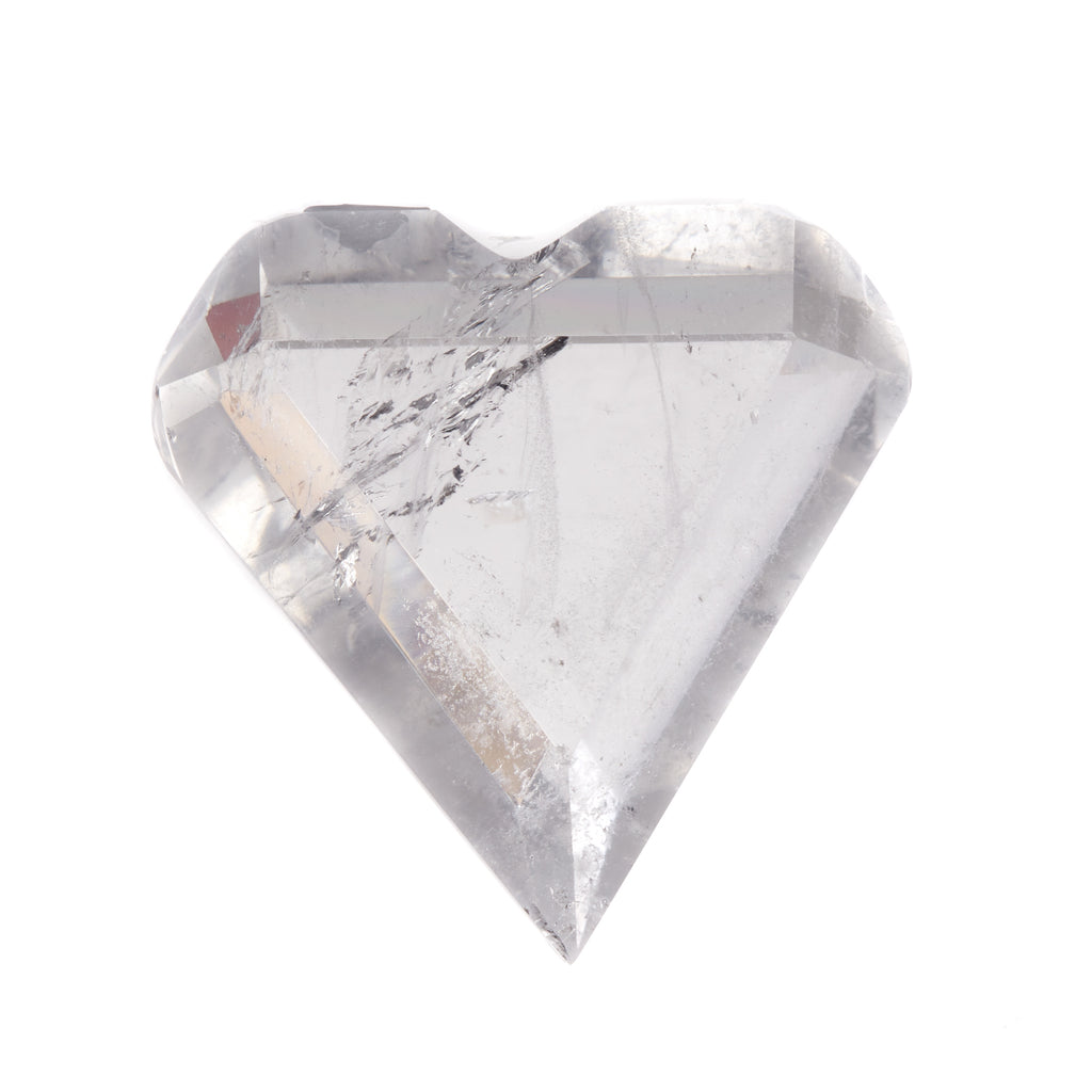 Clear Quartz Faceted Heart #7