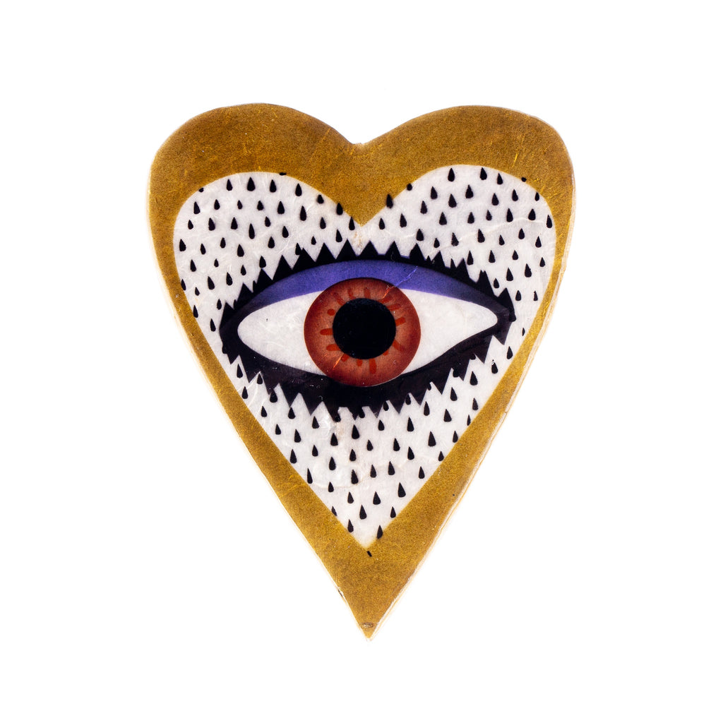 Jones & Co // Gold Heart Eye Wall Art