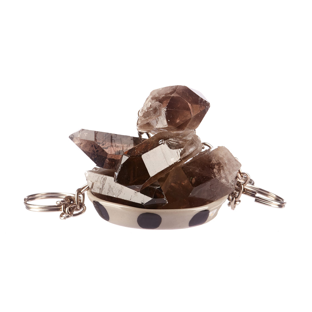 Smokey Quartz Key Ring