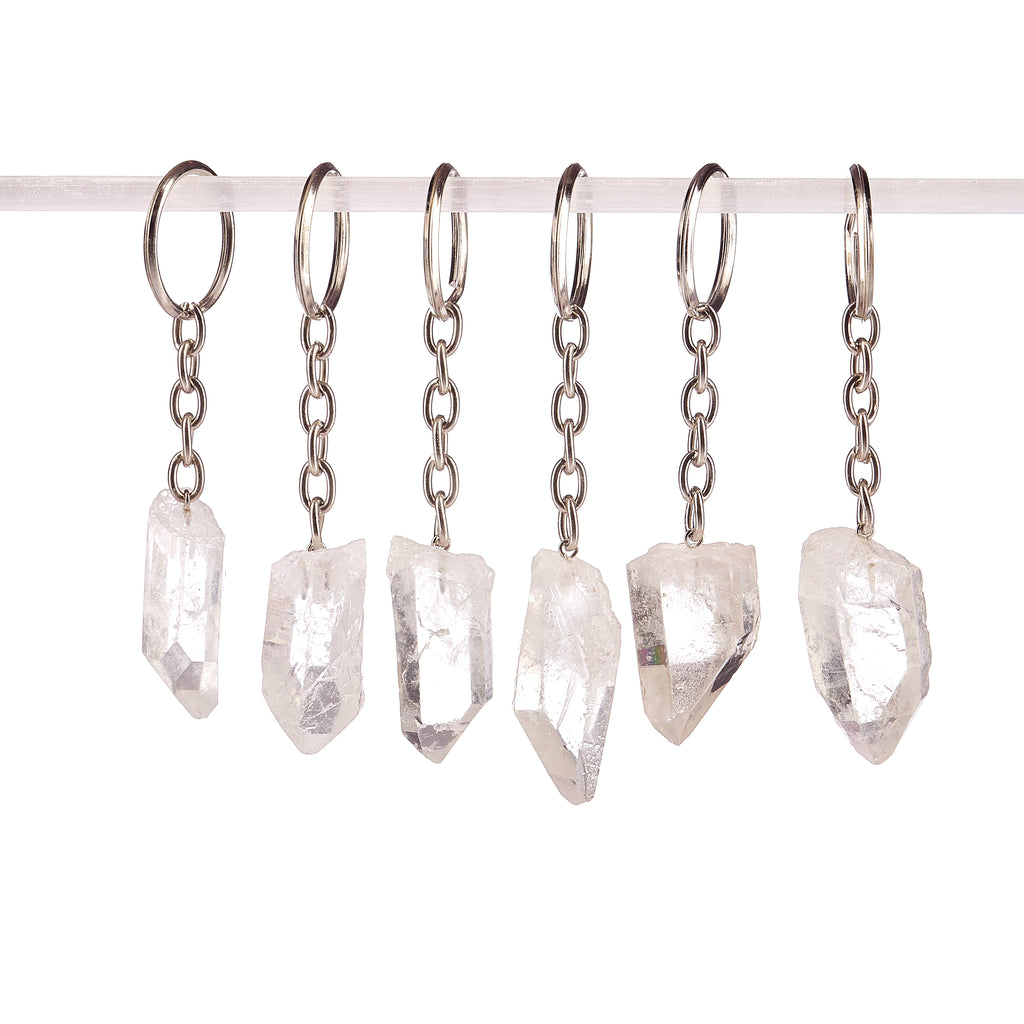 Clear Quartz Key Ring