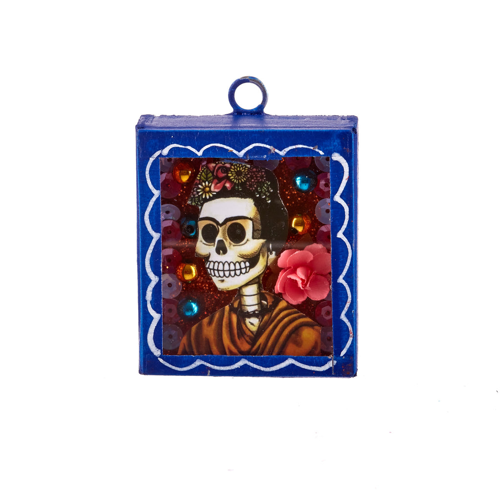 Mexican Handcrafts // Small Day Of The Dead Wall Hanging / Ornament