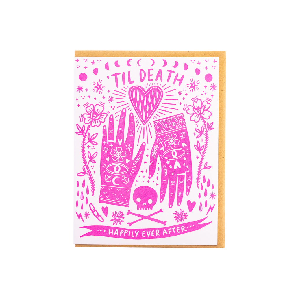 Hello Lucky // Til Death Greeting Card