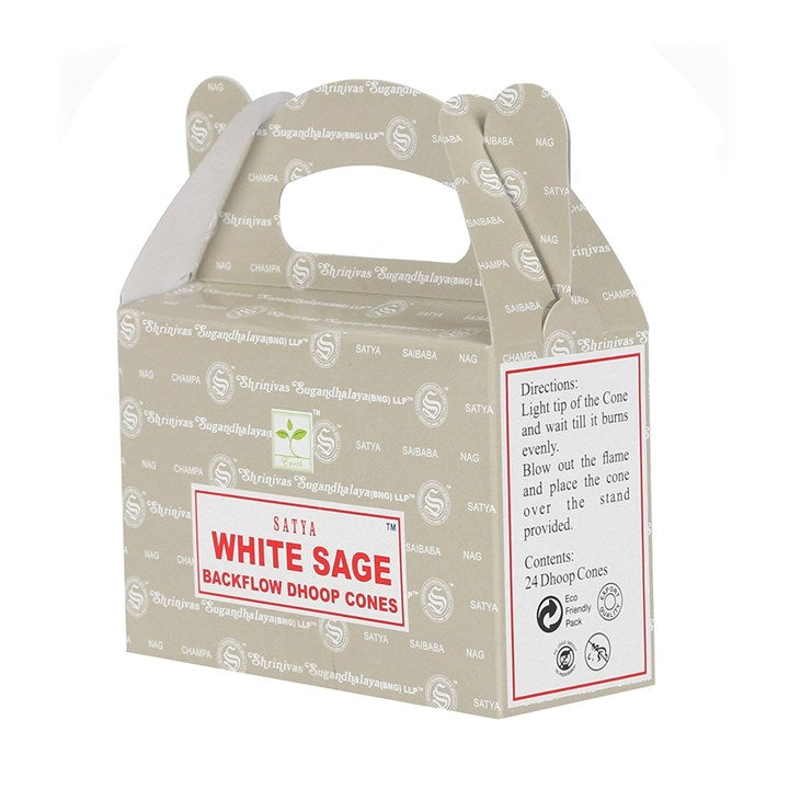 White Sage  // Backflow Dhoop Cone