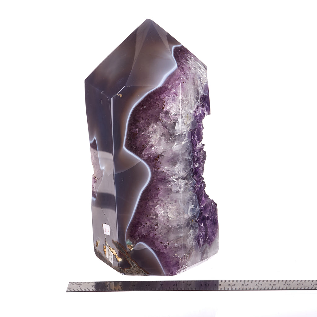 Amethyst Agate Polished Point #6