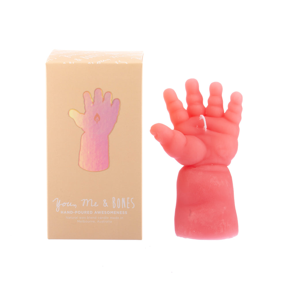 You, Me & Bones // Doll Arm Candle - Pink
