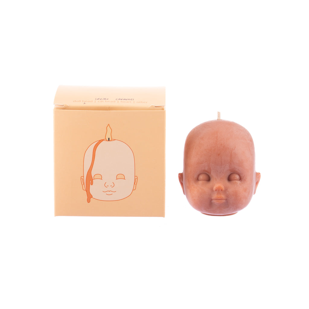 You, Me & Bones // Doll Head Candle - Terracotta