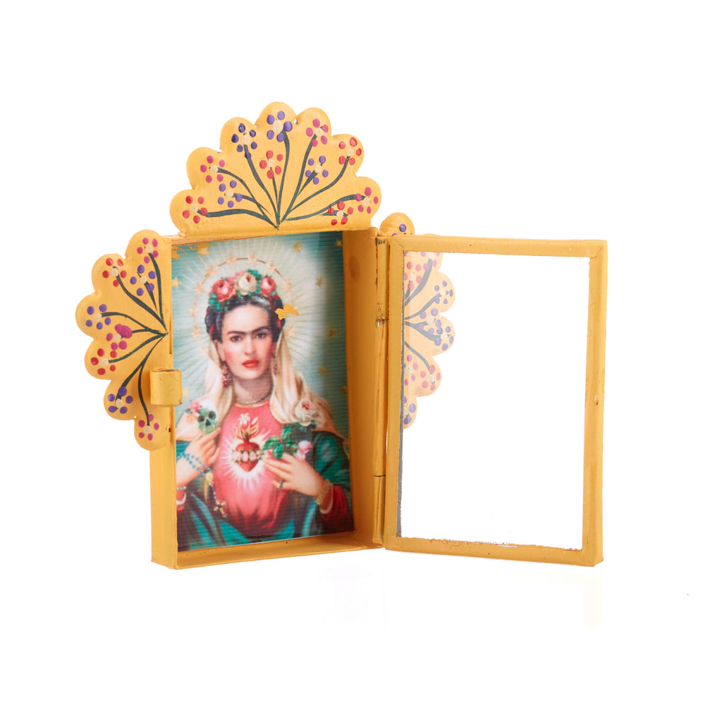 Mexican Handcrafts // Frida Yellow Wall Hanging Ornament