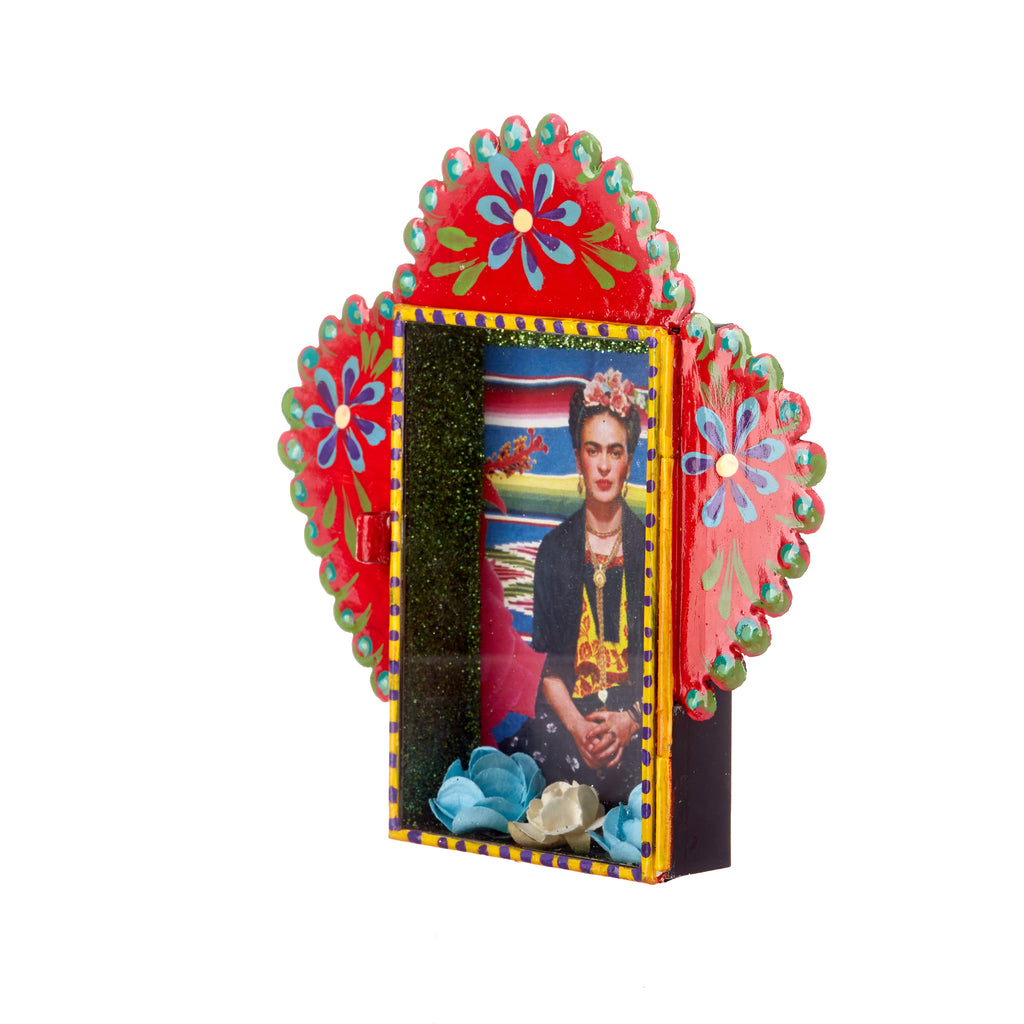 Mexican Handcrafts // Frida Tin Ornament / Wall Hanging