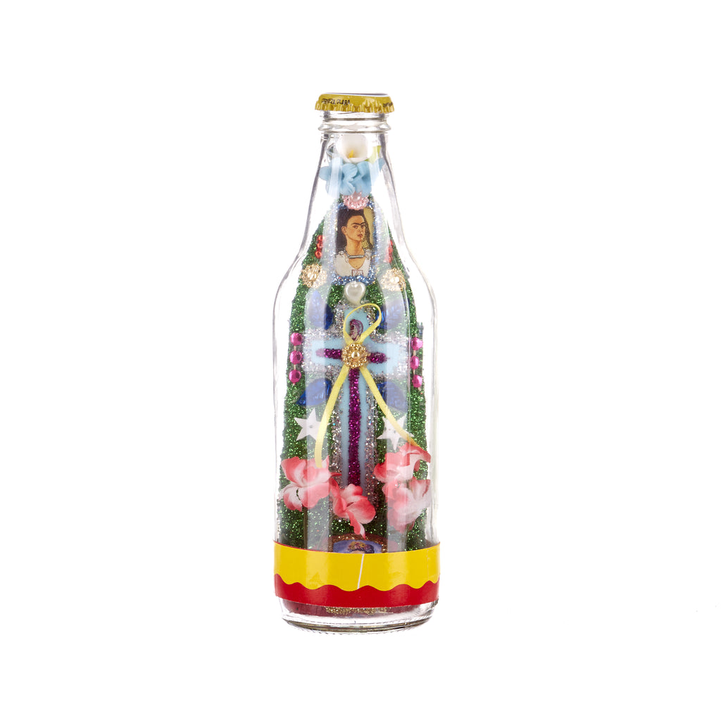 Mexican Handcrafts // Frida Beer Bottle #3
