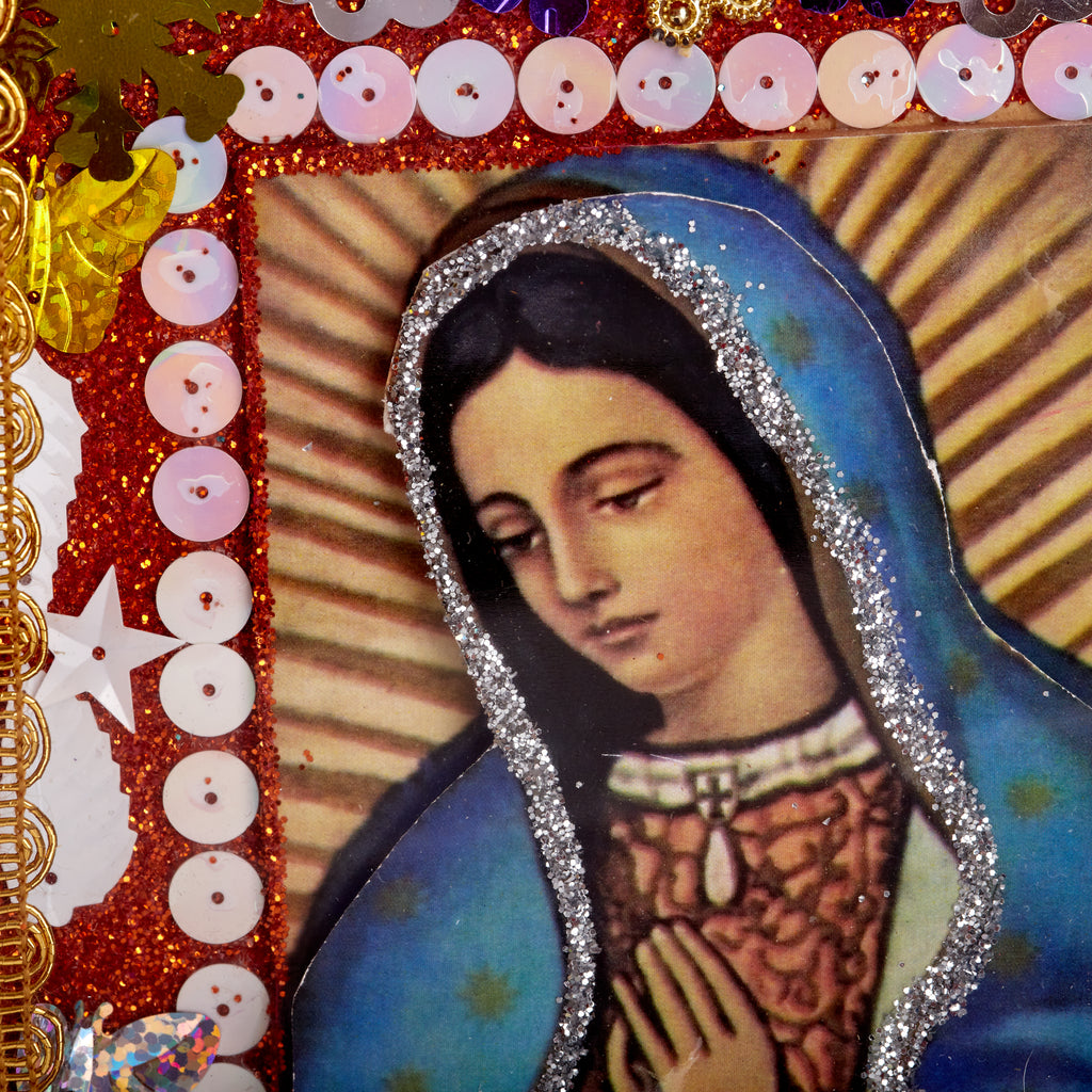 Mexican Handcrafts // Mary Purple Wall Hanging / Ornament