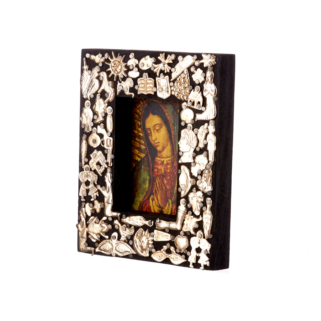 Mexican Handcrafts // Black Wooden Mary Frame