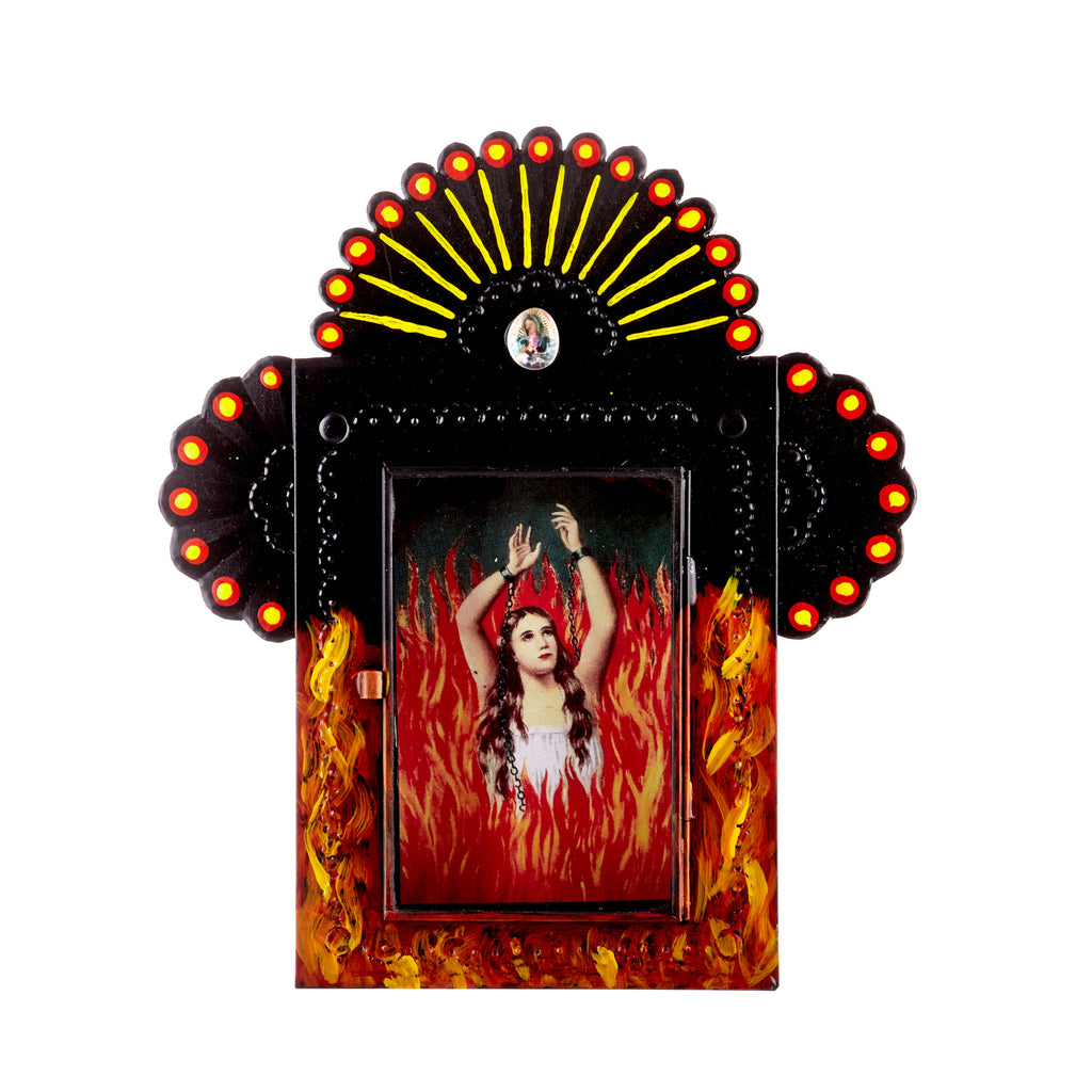 Mexican Handcrafts // Lady In Flames Wall Hanging / Ornament