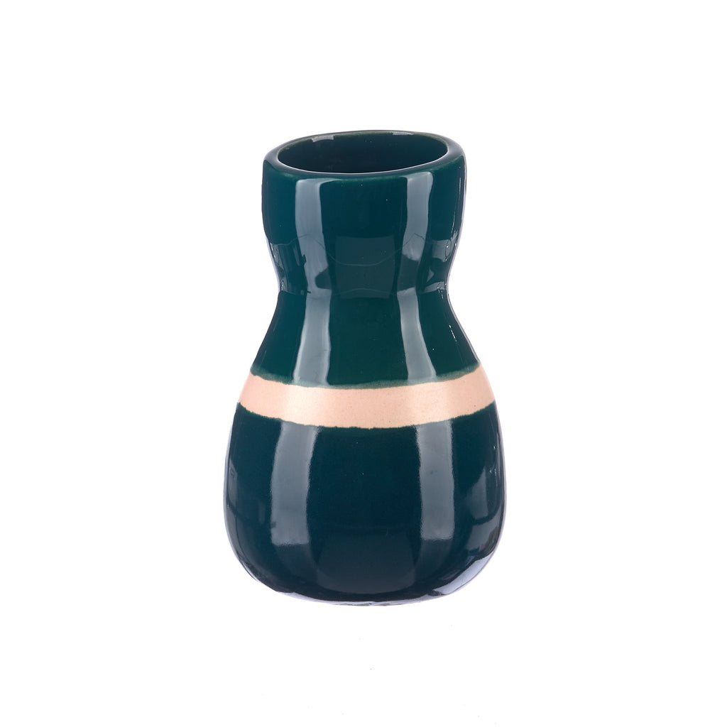 Jones & Co //  Saturday Vase - Green Ink