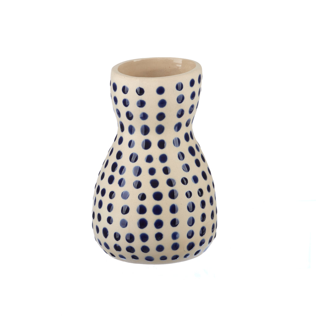 Jones & Co // Saturday Vase - Mini Blue Spot