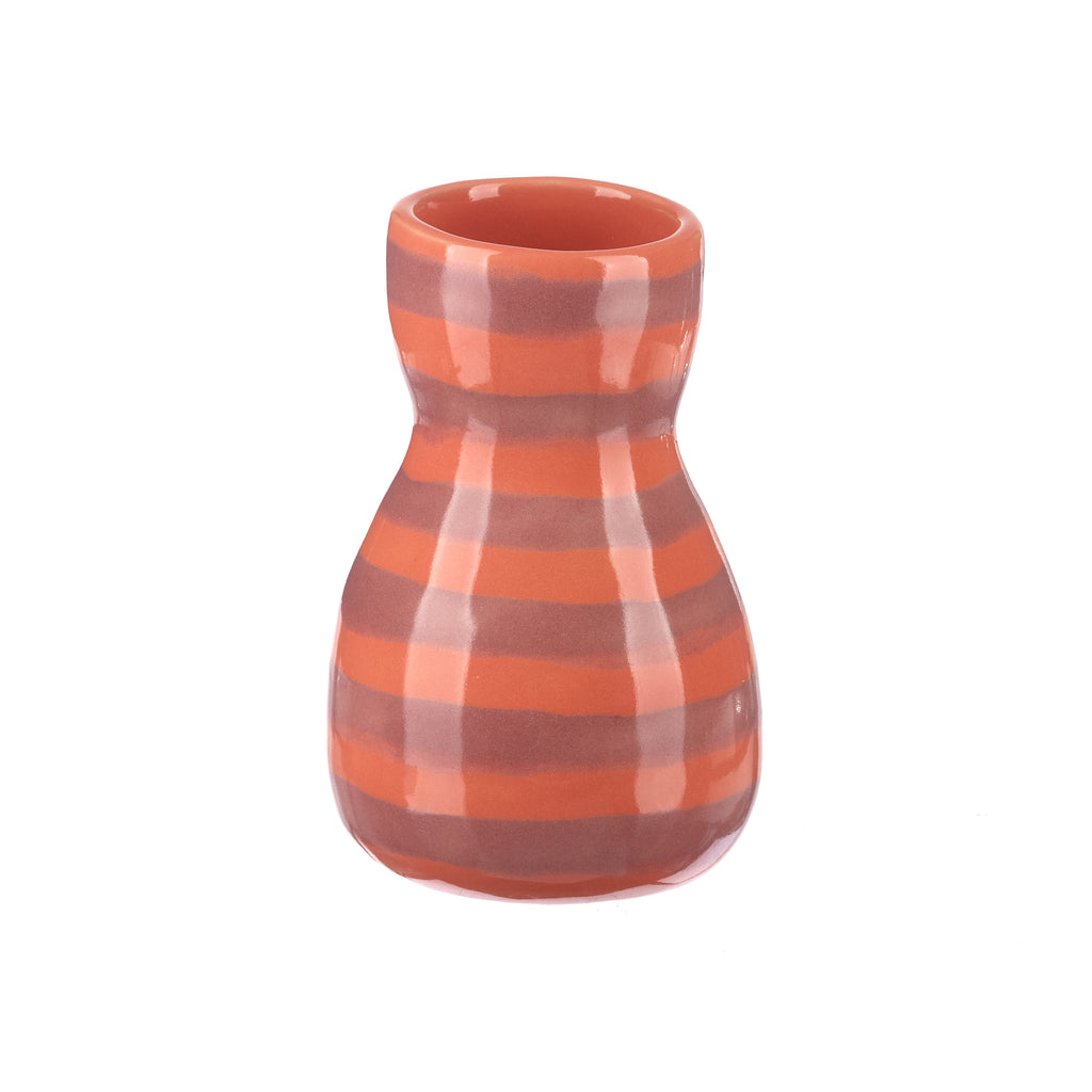Jones & Co //  Saturday Vase - Pink Stripe