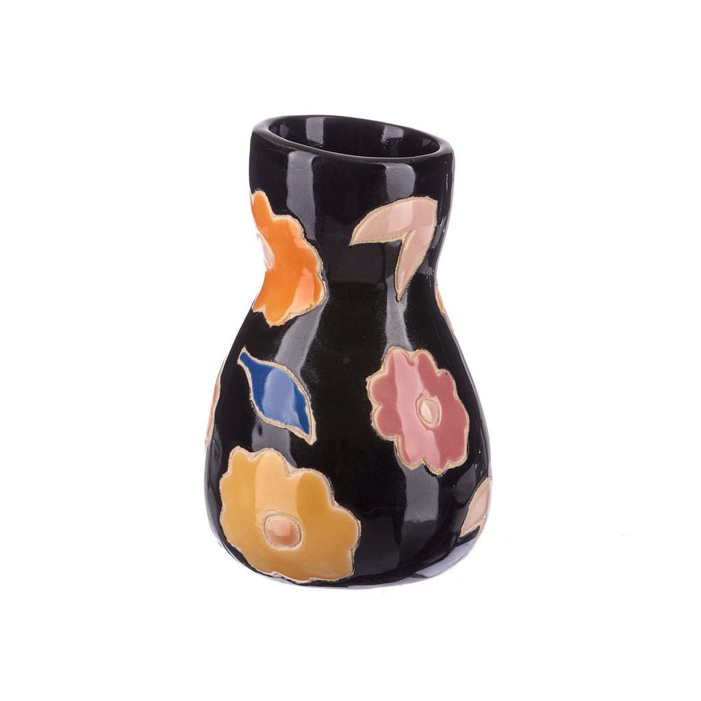 Jones & Co //  Black Floral Saturday Vase